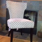 classic dining chair with grey patterns