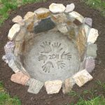 classic nice adorable fantastic wonderful cool amazin in-ground-fire-pit with nice rock amde concept with small design
