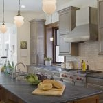 classic nice adorable wonderful fantastic soapstone kitchen design with large black kitchen island concetp design with classic cabinet