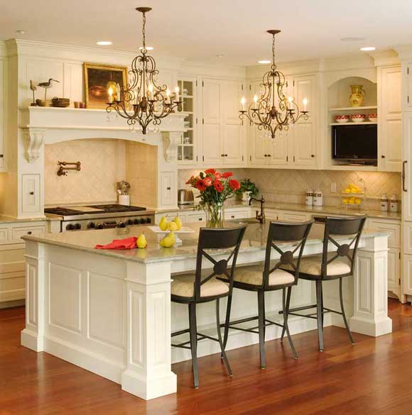 Kitchen Island With Bar Seating Simple And Practical