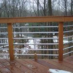 Cool Contemporary Nice Adorable Amazing Horizontal Deck Railing With With Wooden Flooring And Wooden Frame With Metal Deck Design