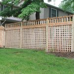 Cool Nice Adorable Simple Fantastic Awesome Lattice Fence Design With Small Classic Woonde Made Concept Design With Nice Green Grass 728x544