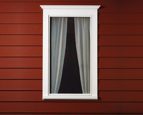 Simple design of outdoor windows trim homesfeed for Window design outside
