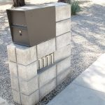 creative nice adorable cool wonderful Awesome-residential-modern-mailboxes-with concrete concept and has metal head design