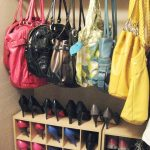 creative nice adorable cute fantastic handbag storage idea with simple mudroom reunited concept design with small hanger design