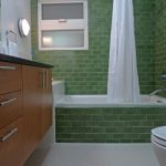 creative nice wonderful amazing cool bathroom remodel mid centrury with green wall brick concept design with small bathtub