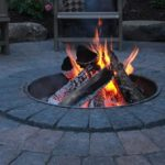 creative nice wonderful cool amazing in-ground-fire-pit ith small dsign with adorable pit concept and has red file design
