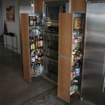 creative nice wonderful cool amazing nice adorable pull out pantry with double pantry design concept made of wood