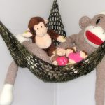 dark green swing of stuffed animal collections