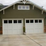 Double Garage Doors In White Made From Wood