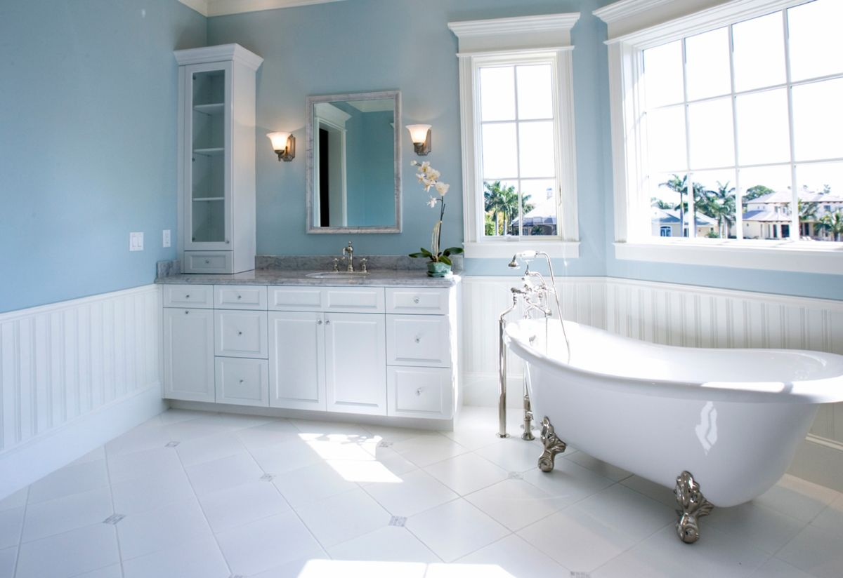 choosing the right bathroom color scheme to show your