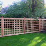 Extra Large Nice Adorable Cool Awesome Modern Classic Lattice Fence Design With Red Wooden Made Design Lattice Concept With Nice Green Environtment 728x546