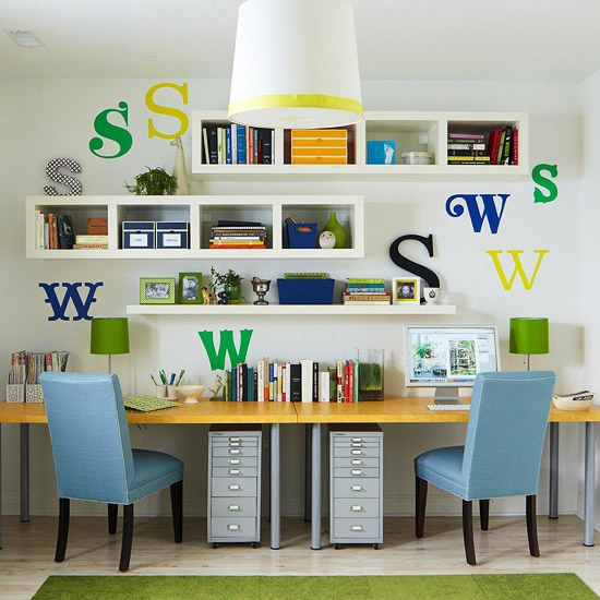 Apartment Blue Book: Wall Units With Desk And Bookcase Plus Cabinets
