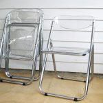 folded-Lucite seaters with transparent back and seating features