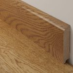 Hardwood Baseboard  With Clear Natural Lines Hardwood Floor With Clear Lines