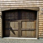 Hardwood Garage Door In Traditional Style  Unique Wall System Twin Wall Lightings