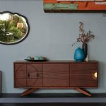 Inspiring Credenza Design Some Decorative Items A Ornamental Mirror Little Kid Painting Decoration