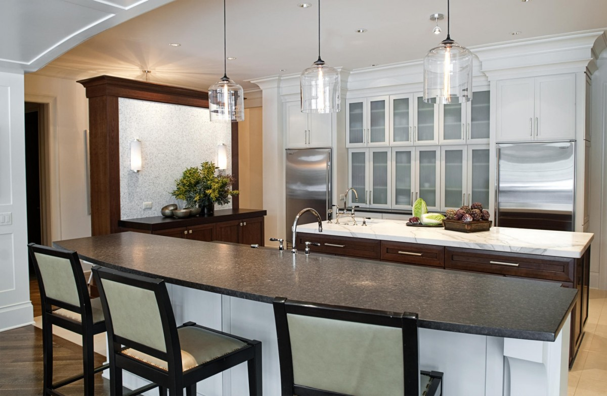 Adding A Bar To A Kitchen Island: Kitchen Island With Bar Seating, Simple And Practical