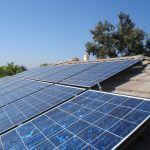 large solar panels on home top