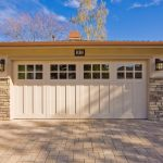 Large White Wood Doors For Garage  With Glass Top Feature