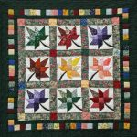 leaves-patterns quilt in plenty colors