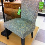 luxurious dining chair with light blue patterns designed by TJ Maxx