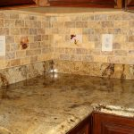 luxurious groutless tiles idea for backsplash zone  with some pictured-tiles ornament expensive granite countertop