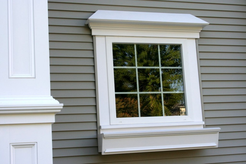 Hottest exterior outside window trim homesfeed for Window sizes for homes