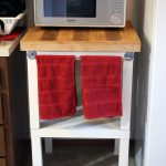 microwave desk with hardwood top desk and wide shelf