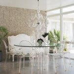 modern-cool-adorable-fantastic-elegant-dining-settee-with-white-accent-design-and-has-nice-other-chair-like-lucite-chair-and-round-table