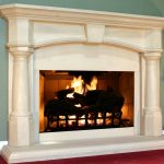 modern cool adorable fantastic fireplace mantel idea with nice modern design white accent wooden frame with small mantel
