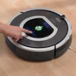 modern futuristic cool adorable automatic nice vacuum cleaner with round shape without pipe design with digital and robot function for future concept
