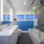 modern nice wonderful cool amazing nice bathroom remodel mid centrury with blue and white accent concept design and has large mirror with long bathtub