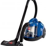 modern nice wonderful creative fantastic vacuum cleaner with blue body concept design and has black flexible pipe