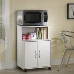 movable microwave cart in white books arrangement stainless steel dining chair