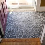 natural rock floor for entry way area