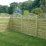 neat and well-organized lattice fence system made from soft wood