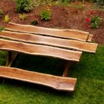 nice amazing wonderful creative classic cool picnic table with wooden original material concetp design with nice wooden chair brown accent