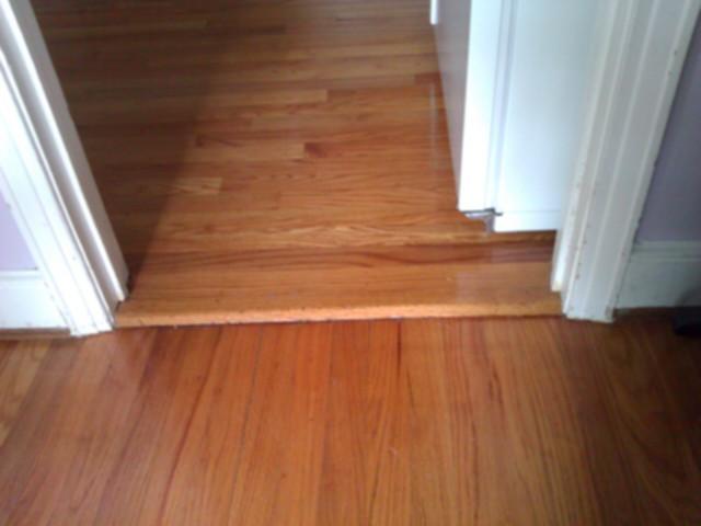 wonderful and creative design of tile wood floor transition homesfeed. Black Bedroom Furniture Sets. Home Design Ideas