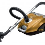 nice small adorable compact wonderful modern vacuum cleaner with yellow body design and has long pipe with a half metal made