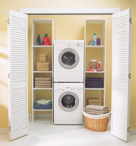 Washing Machine In Kitchen Design: Washer And Dryer Cabinets Models