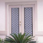 pretty patterned-sidelight window films for entrance door