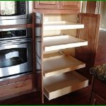 pull-out kitchen storage with wood platforms modern kitchen appliance
