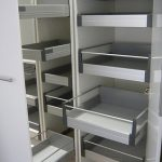 pull-out pantry storage in metal