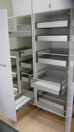 Pull Out Pantry Storage In Metal