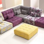 purple-mode modular furniture with yellow table