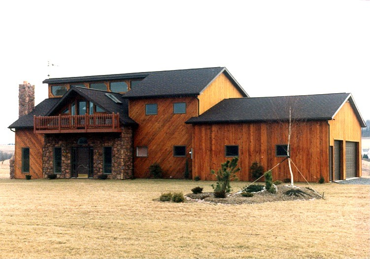 Cool and natural pole barn house design homesfeed for Barn house plans kits