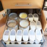 Small Cabinet With Pull Out Platforms For Store The Supplies And A Drawer
