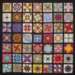 square random patterns quilt