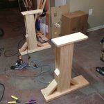 Standing Desk's Legs Plan Made From Solid Wood